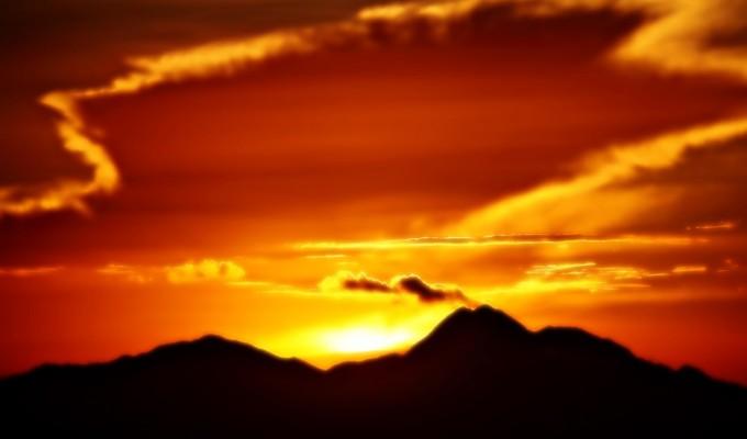 A bold sunrise…