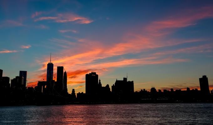 Sunset over the BigApple…